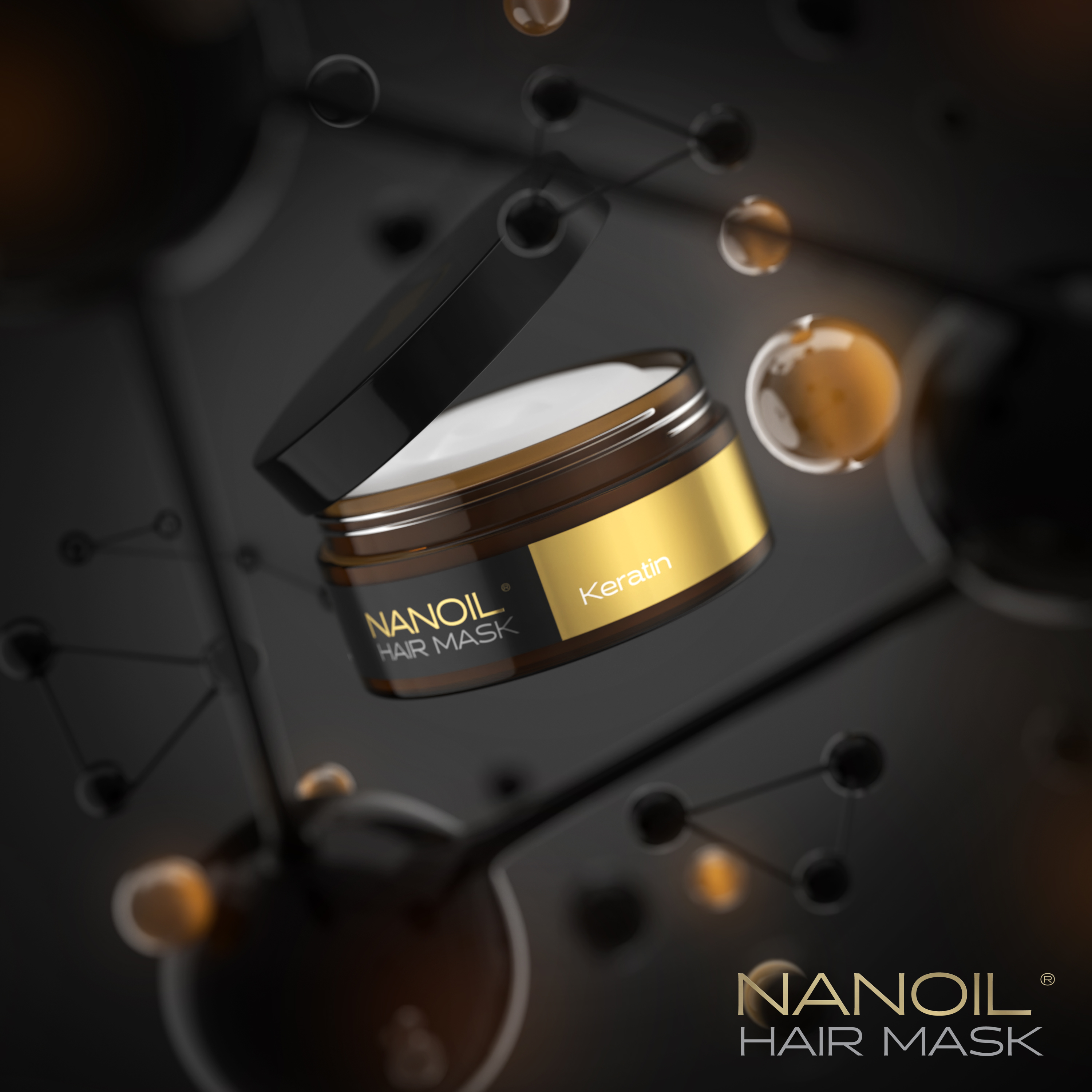 Intensive hair treatment with Nanoil Keratin